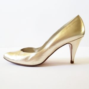 Stuart Weitzman Gold for Mr Seymour heels